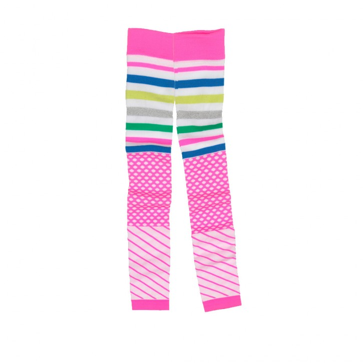 Mim-Pi Strick-Legging hot pink / Mustermix