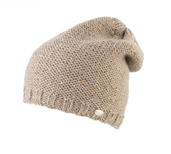 CAPO Pailletten-Strick-Sloppy/Mütze alpaca