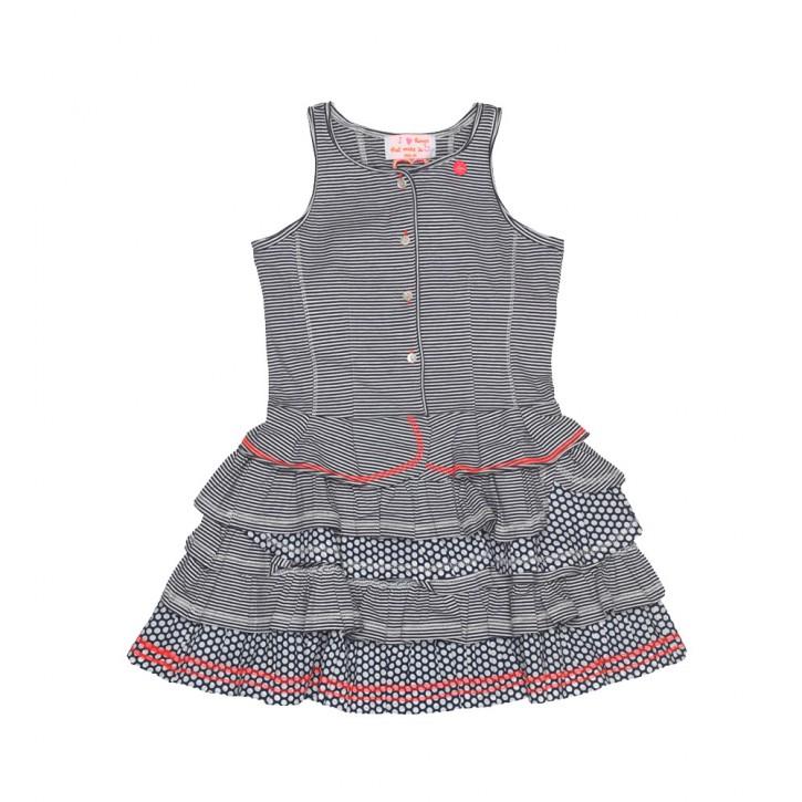 Mim-Pi Kleid Streifen dunkelblau/weiß