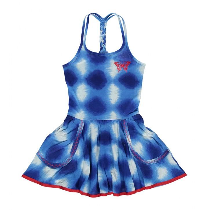 Mim-Pi Kleid blau/weiß