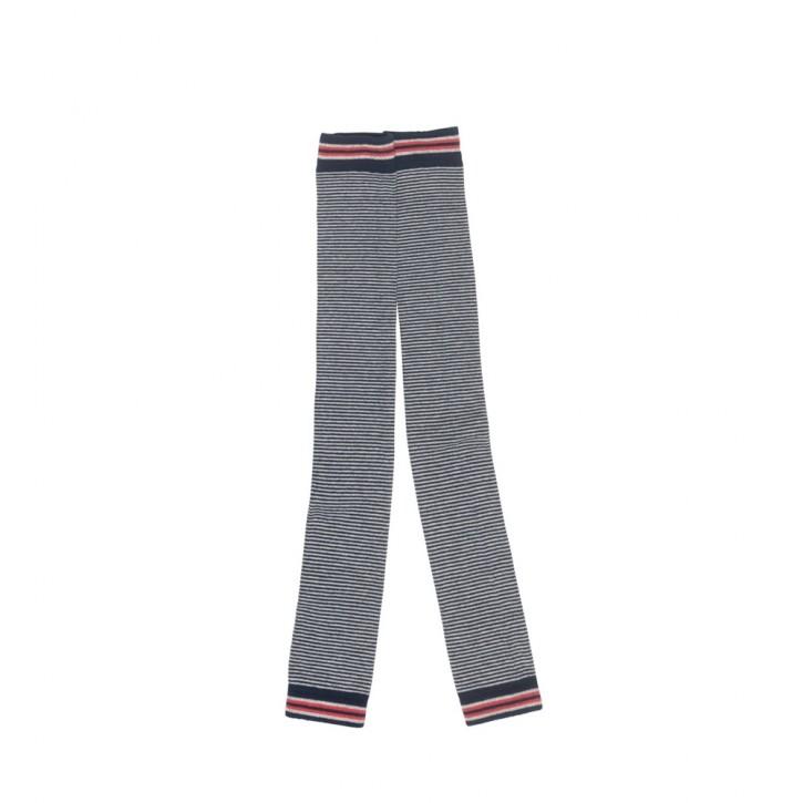 Mim-Pi Strick-Legging Streifen blau weiß