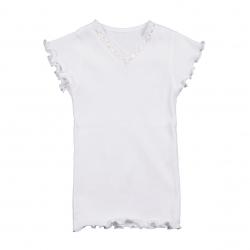 Mim-Pi Feinripp-T-Shirt WEISS