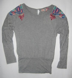 CKS Top Adede soft grey melange