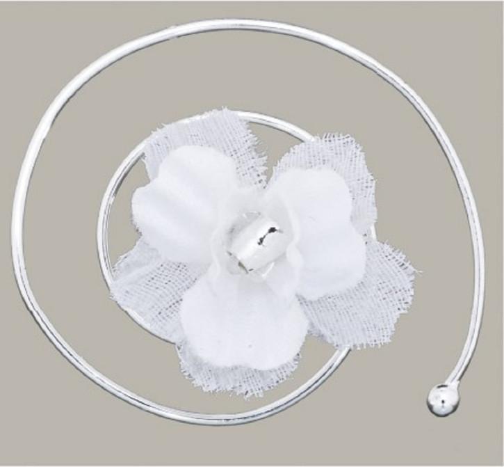 Emmerling Kommunion Accessoires Curlies Blüte 6 Stück white