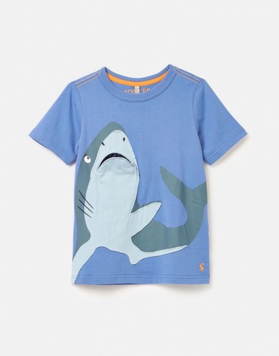 Joules Jungen T-Shirt ZIPADEE Hai blau