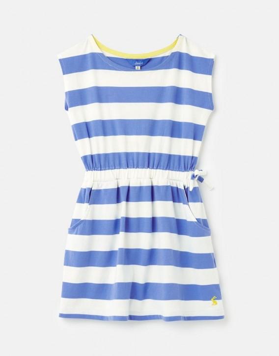Joules Mädchen Langarm-Kleid JUDE Streifen blau weiß