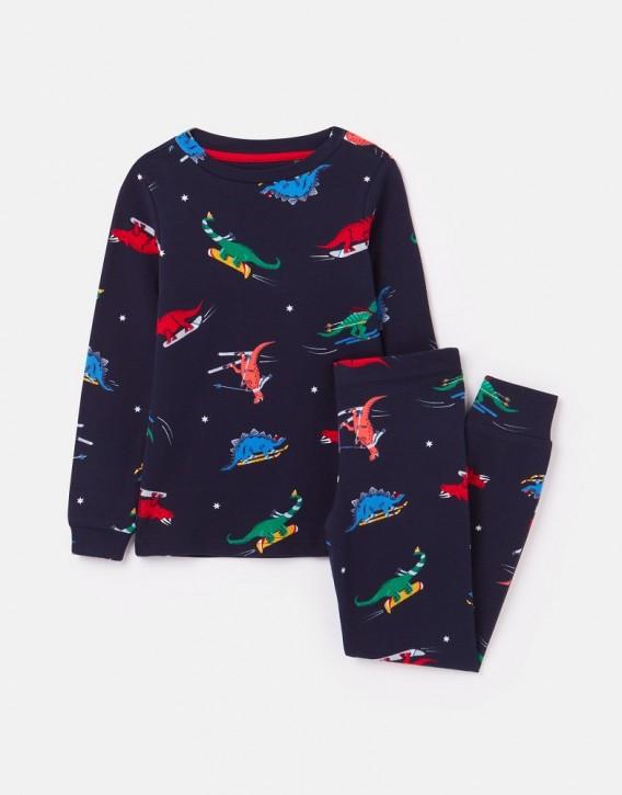 Joules Jungen Pyjama/Schlafanzug KIPWELL Dinos navy bunt