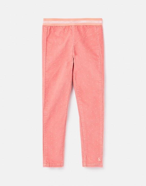 Joules Mädchen Feincord Legging CALLEN Sterne pink