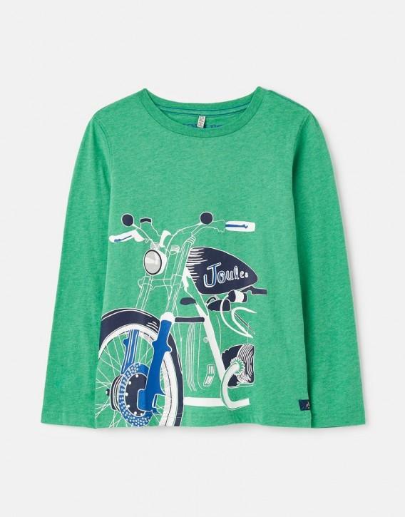 Joules Jungen Langarm-Shirt/Longsleeve RANDALL Motorrad grün