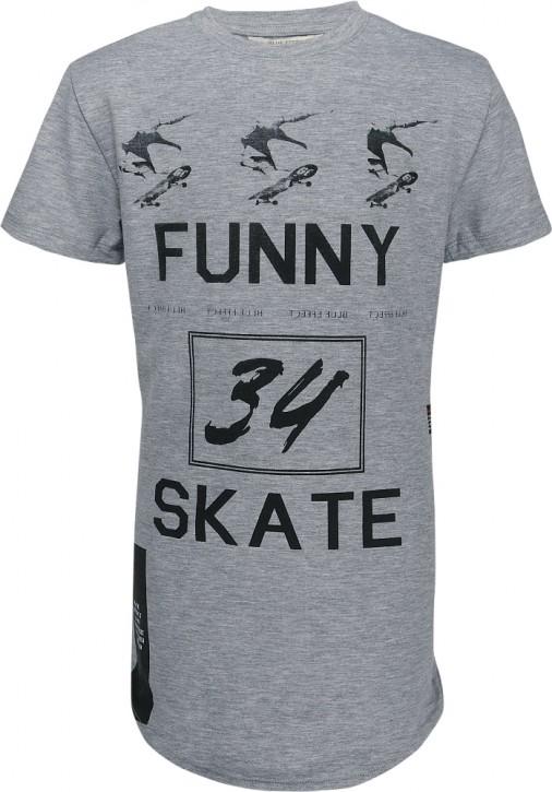 Blue Effect Jungen Skater Long-T-Shirt grau melange