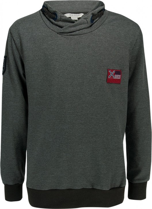Blue Effect Schalkragen-Shirt / Sweat-Shirt dunkeloliv