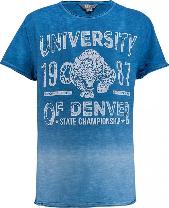 Blue Effect Jungen T-Shirt UNIVERSITY OF DENVER blau farbverlauf