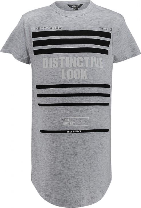 Blue Effect Jungen Long T-Shirt DISTINCTIVE LOOK hellgrau melange