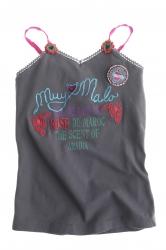 Muy Malo Träger-Top rose du maroc dark gull gray