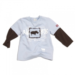 "Keedo Sweat-Shirt hellblau-braun ""Rhino sweater"""