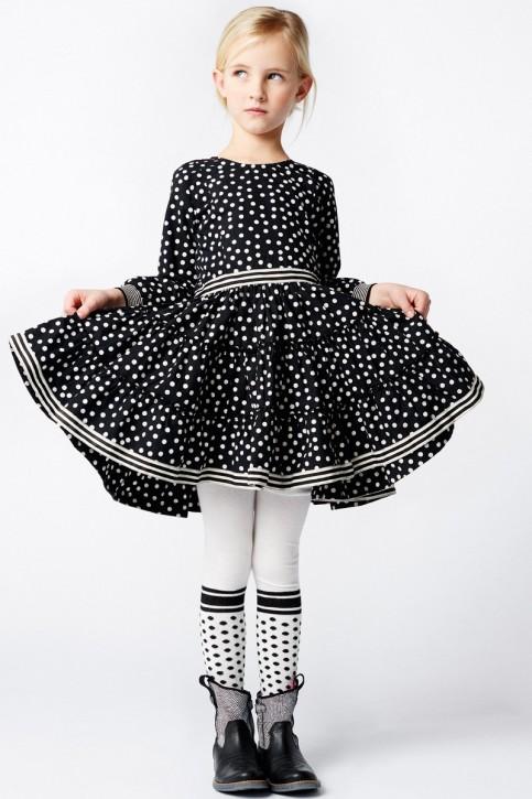 Mim-Pi Kleid Dots schwarz weiß
