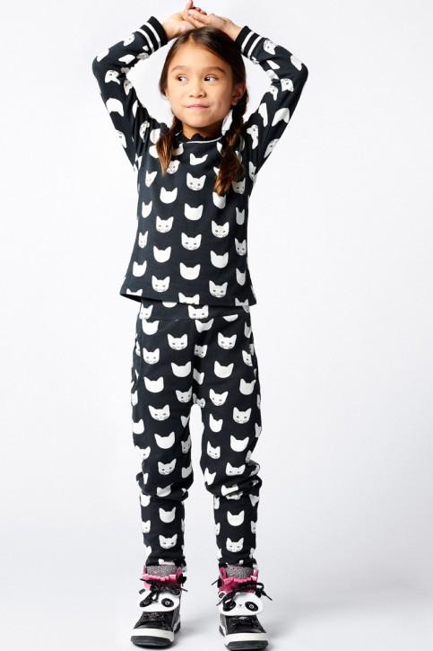Mim-Pi Langarm-Shirt/Longsleeve CATS schwarz weiß