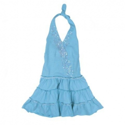 Mim-Pi Neckholder-Kleid aqua