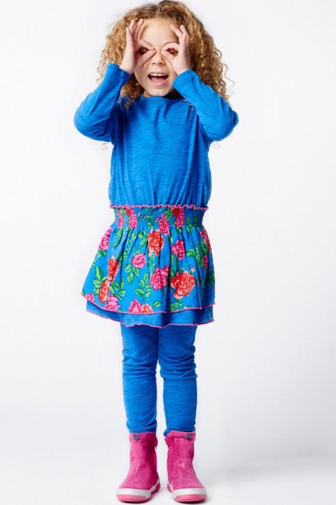 Mim-Pi Kleid Flower jeansblau