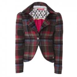 Muy Malo Tweed-Blazer karo multicolor