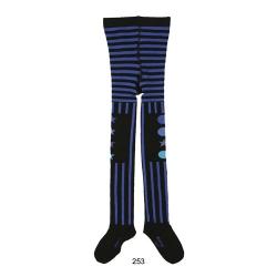 Mim-Pi Strumpfhose Streifen/Stars blau-schwarz