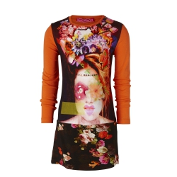 Muy Malo Kleid Flowerface tigerlilly
