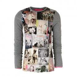 Muy Malo Langarm-Shirt/Longsleeve Photo-Print grey melange