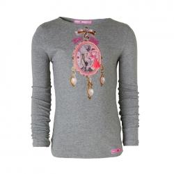 Muy Malo Langarm-Shirt/Longsleeve Mirror Artwork grey melange