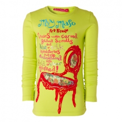 Muy Malo Langarm-Shirt/Longsleeve Chair-Print lime punch