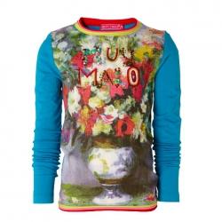 Muy Malo Langarm-Shirt/Longsleeve Bouquet-Print blue bird