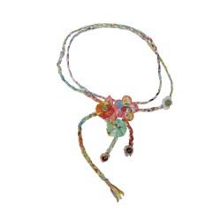 Muy Malo geflochtener Gürtel mit Blumen multicolor