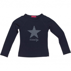 Kiezel-tje Langarm-Shirt Star midnight blue