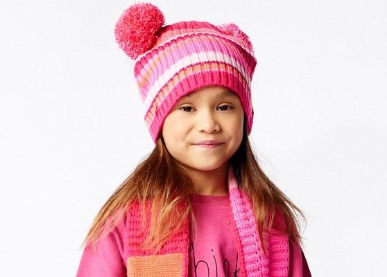 Mim-Pi Mütze Streifen pink