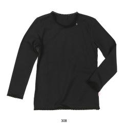 Mim-Pi Basic-Langarm-Shirt / Longsleeve schwarz