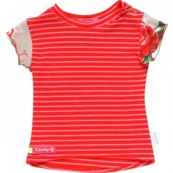 Kiezel-tje Mini T-Shirt Streifen rot/pink