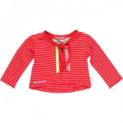 Kiezel-tje Mini Cardigan/Bolero Streifen rot/pink