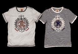 RETOUR Jeans T-Shirt Armando Streifen weiss-sand
