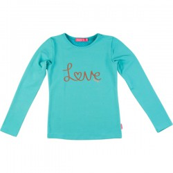 Kiezel-tje Langarm-Shirt/Longsleeve Love aqua