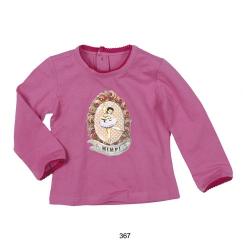 Mim-Pi Shirt pink mit Ballerina-Print