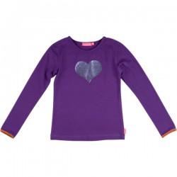 Kiezel-tje Langarm-Shirt/Longsleeve Herz purple