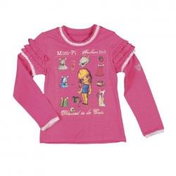 Mim-Pi Langarmshirt/Longsleeve mit Print pink