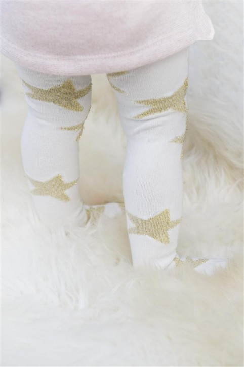 Bonnie Doon Baby Strumpfhose SPARKLE STARS offwhite