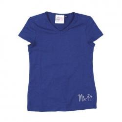 Mim-Pi Basic-T-Shirt blau