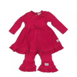 "Keedo Kleid/Tunika mit Legging 2tlg. cherry red ""Pretty dress set"""