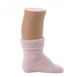 """Bonnie Doon Baby Socken """"Cuffed Terry Bootie"""" rosa"""
