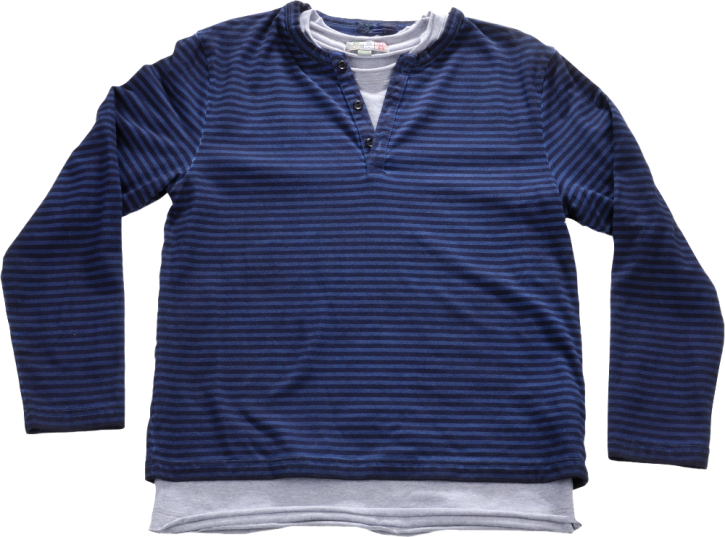Blue Effect 2 in 1 Langarm-Shirt/Longsleeve SET stahlblau oil