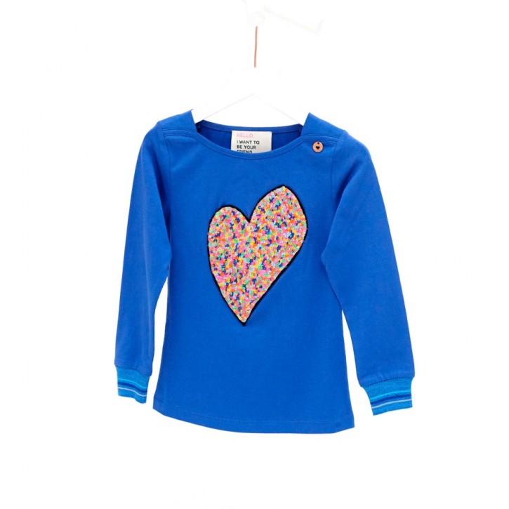 Mim-Pi Langarm-Shirt/Longsleeve großes Herz blau
