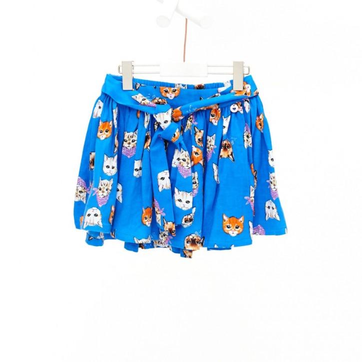 Mim-Pi Rock Katzen allover blau