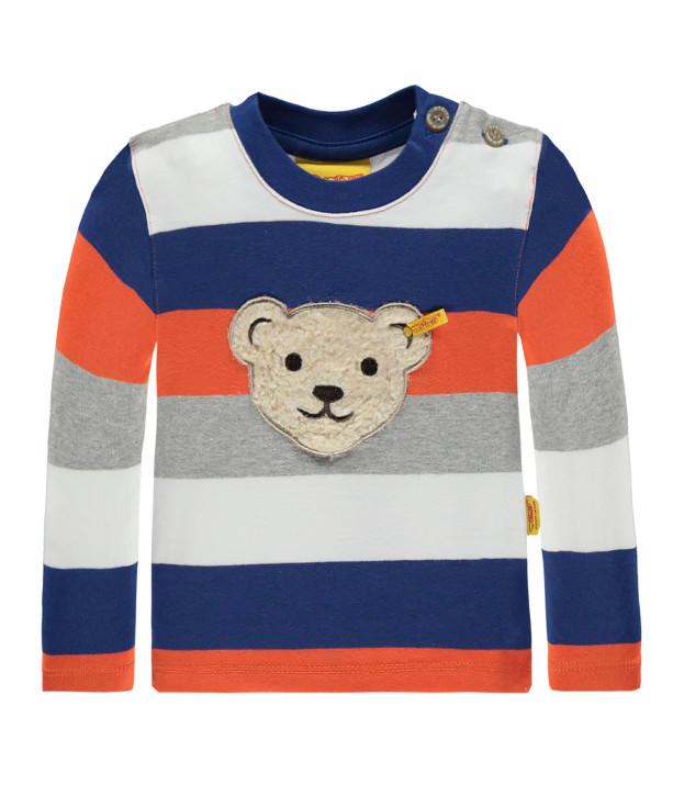 Steiff Sweatshirt mit Quietschebär Streifen BLUE ZONE