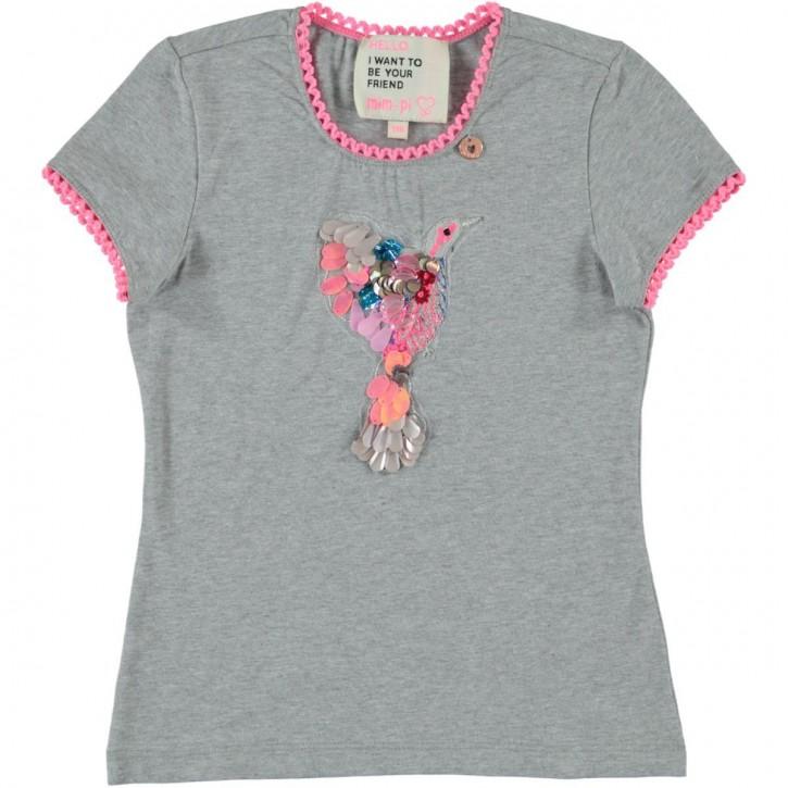 Mim-Pi T-Shirt Glücksvogel grey